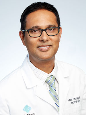 Ashish Dhungel, MD, a nephrologist with Kidney Clinic